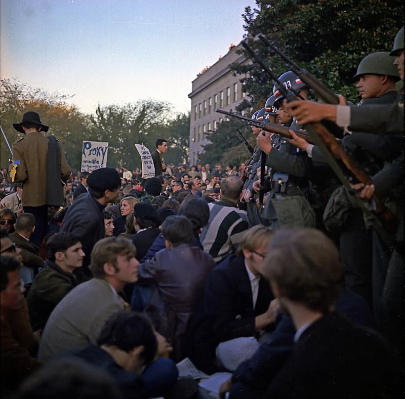 Vietnam War Protests at Pentagon - October 1967